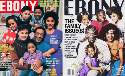 Cosby Show Ebony Cover Then and Now