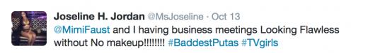 Joseline Tweet 1