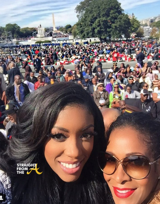 Porsha WIlliams Sheree Whitfield Million Man March