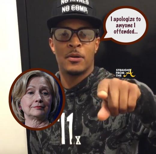 T.i. Hillary Clinton Apology