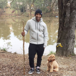 Usher and Dog 2015