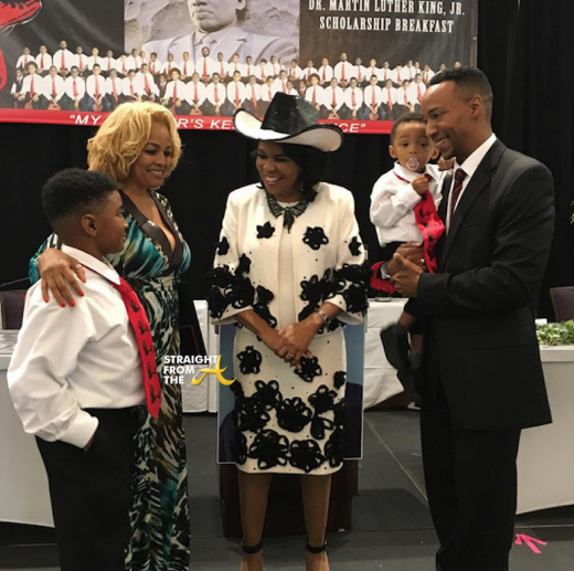 Kim Fields and Family with Frederica Wilson 2016