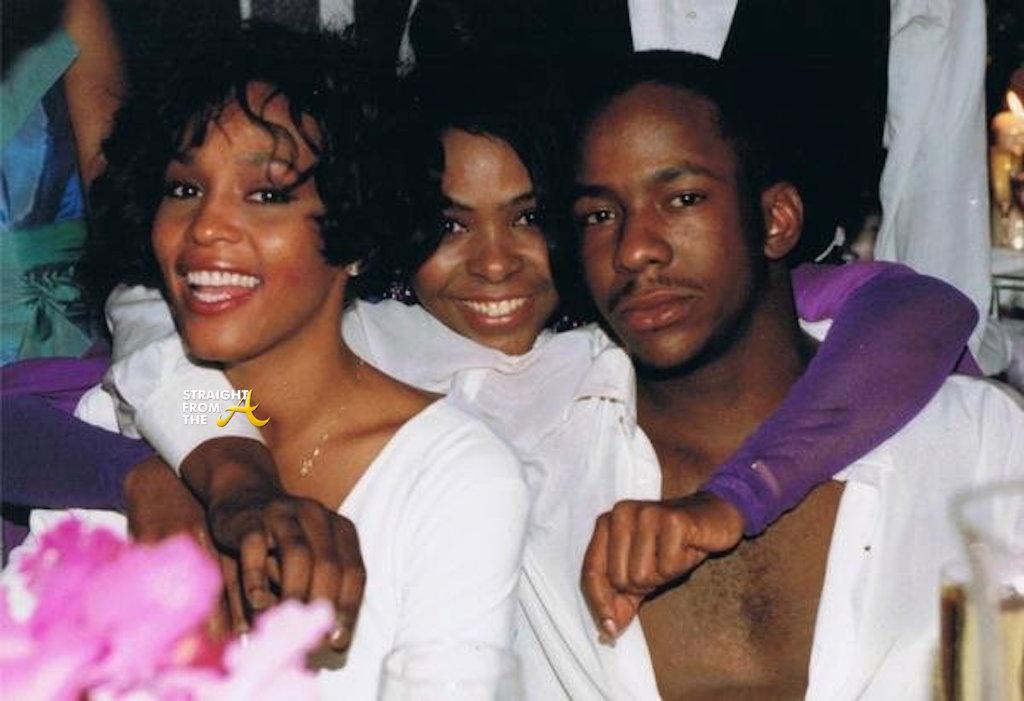 Leolah Brown (center) with Whitney & Bobby