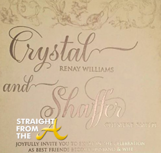 Neyo Crystal Renay Wedding Invitation 1