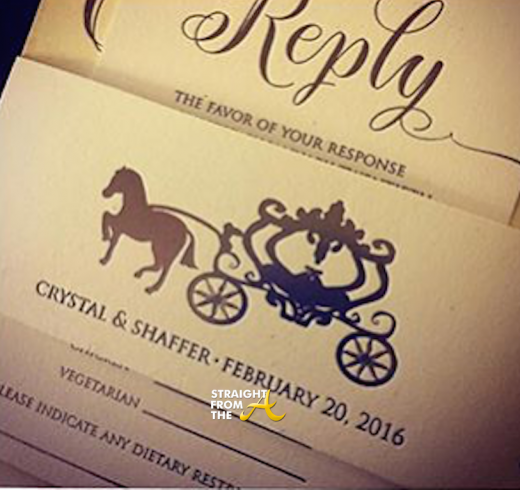 Neyo & Crystal Renay Wedding Invitation 2
