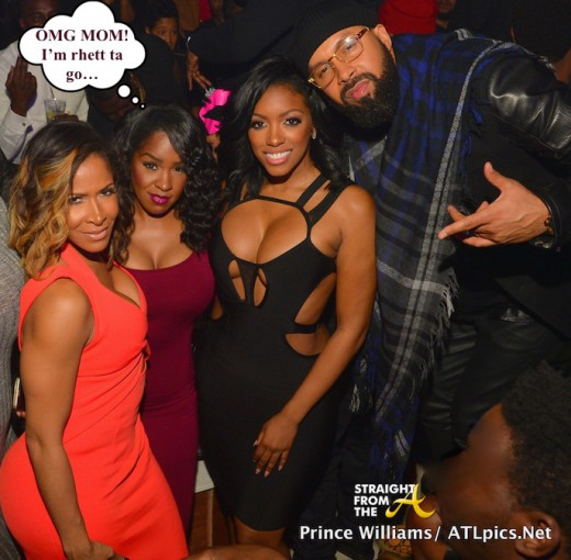 Sheree Whitfield, Daughter Tierra Fuller, Porsha Williams, Kenny Burns