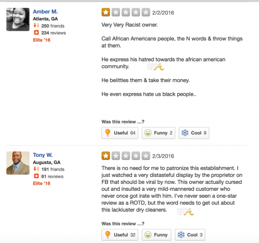 Yelp Page Reviews 1