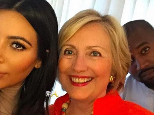 Kanye Kim Hillary Clinton 2016
