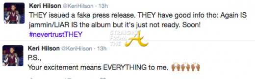 Keri Hilson Tweets