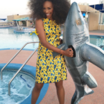 "Quick Pics: #RHOA Cynthia Bailey Attends Vegas ""Sharknado"" Premiere… (PHOTOS)"