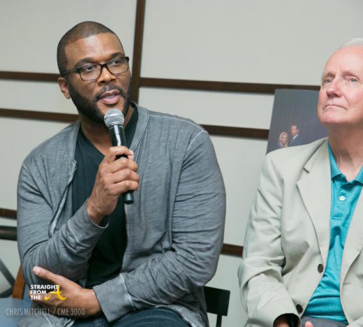 Tyler Perry responds to a question