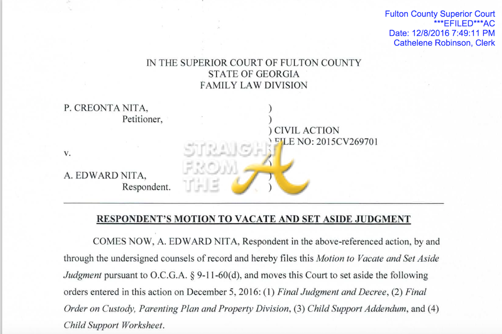 APOLLO NIDA files motion to vacate divorce – Divorce Property Division Worksheet
