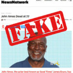 Rumor Control: Actor John Amos is NOT Dead…