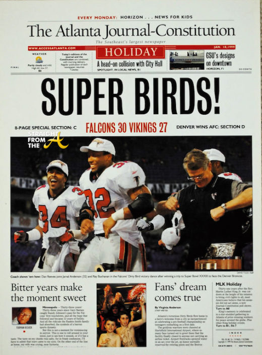 AJC Falcons Headline 1999