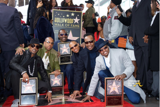 New Edition Gets Star on Hollywood Walk of Fame… (PHOTOS + VIDEO)
