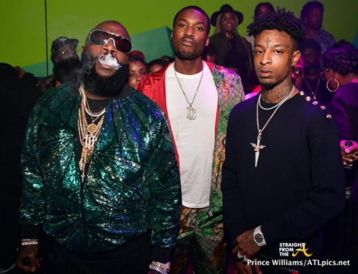 Club Shots Meek Mill 21 Savage Karlie Redd Attend Rick