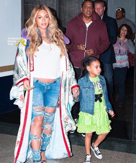 Baby Bump Watch: Beyonce, Jay-Z & Blue Ivy Attend 2017 NBA ...