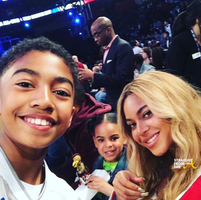 Beyonce BLue Ivy NBA Allstar 2017 3