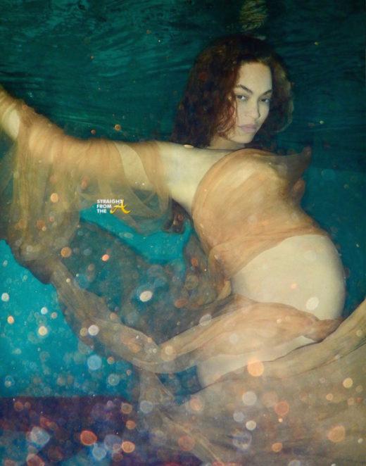 Beyonce underwater materinty shoot 1