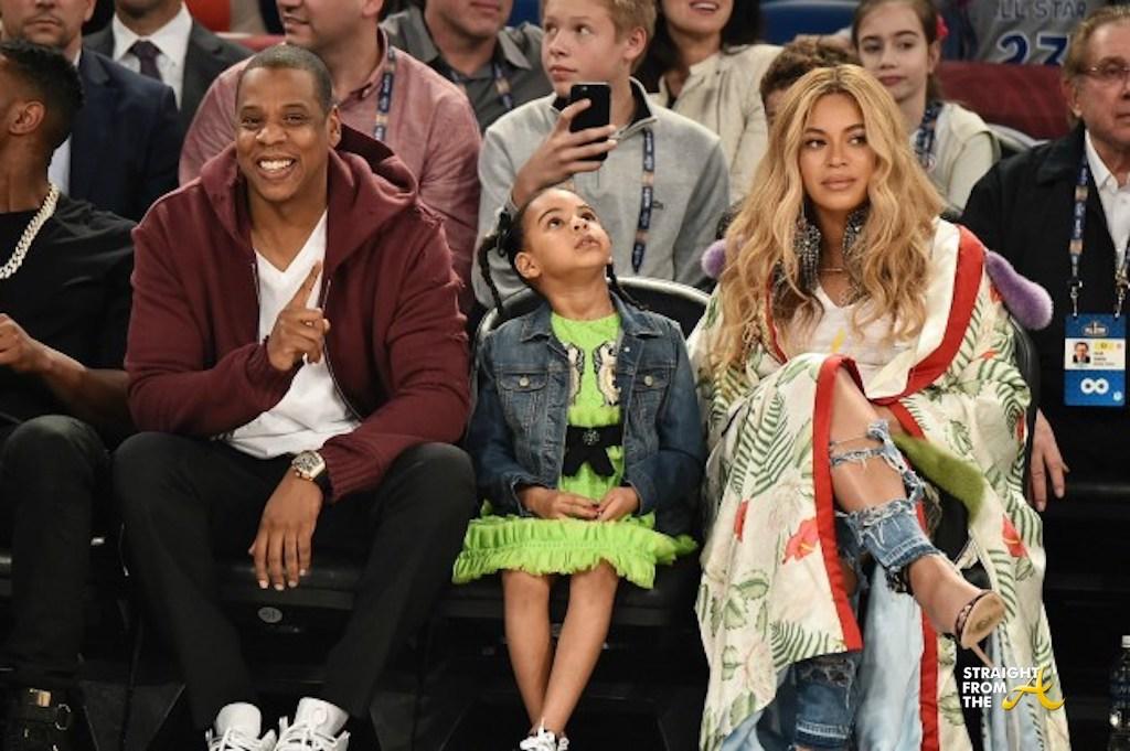 Baby Bump Watch: Beyonce, Jay-Z & Blue Ivy Attend 2017 NBA ...