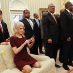 OPEN POST: Trump Aide Kellyanne Conway Kneeling on White House Couch… [PHOTOS]