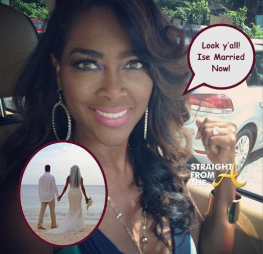 RHOA Kenya Moore Confirms Marriage via Instagram… (Let's All