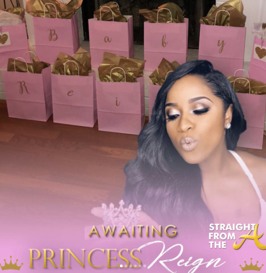 Toya Wright Shares New Baby Bump Glam Shot + Baby Daddy Attends #ShoweringReign Baby Shower…