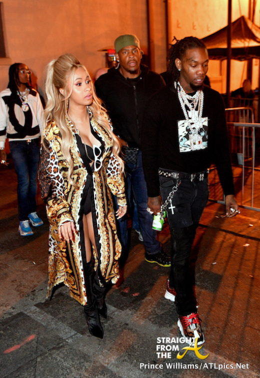 Baby Bump Watch: Cardi B. Joins Offset at Migos Album Release Party During NBA All-Star Weekend… (PHOTOS)
