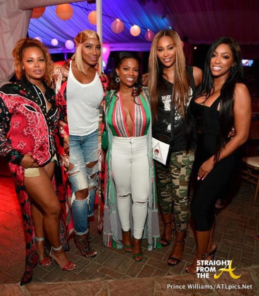 #RHOA Girls Night Out: Season 11 Cast Support 'BLAQUE' Performance At ATL Live on The Park… (PHOTOS)