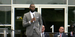 LEBRON JAMES OPENS I PROMISE SCHOOL