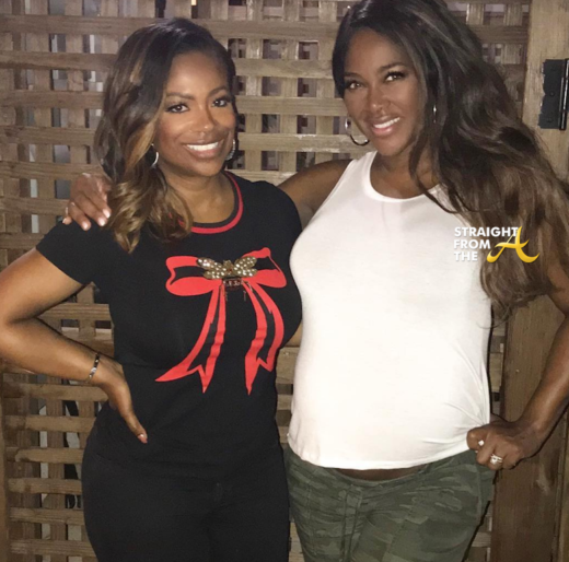 Baby Bump Watch: Kenya Moore Spotted Partying With #RHOA Kandi Burruss… (PHOTOS + VIDEO)