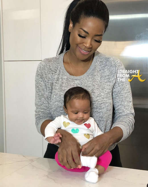 Kenya Moore & Baby Brooklyn Spent Valentine's Day in NYC…