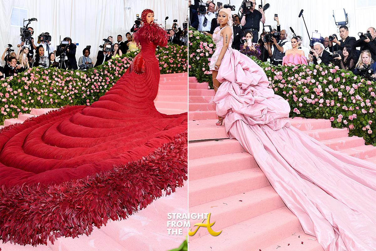 Cardi B Totally Upstaged Nicki Minaj At The 2019 Met Gala
