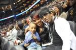 Monica ~ Rocko & Lil Rock at Hawks v. Lakers Game