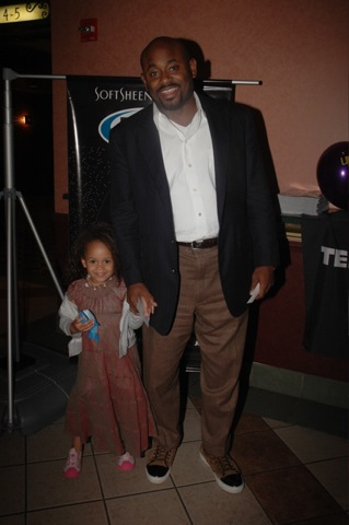 Steve Stoute and his daughter