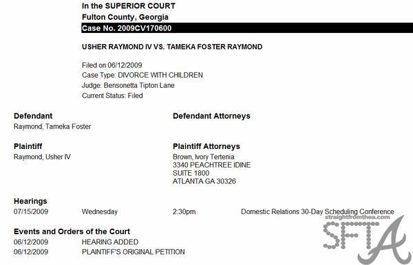 Usher Divorce