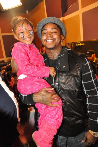 Lil Scrappy with his daughter