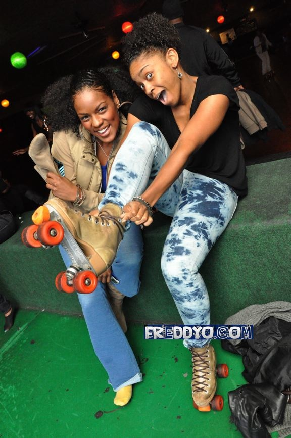 Skatetown Toy Drive ~ D. Woods & Mika Means