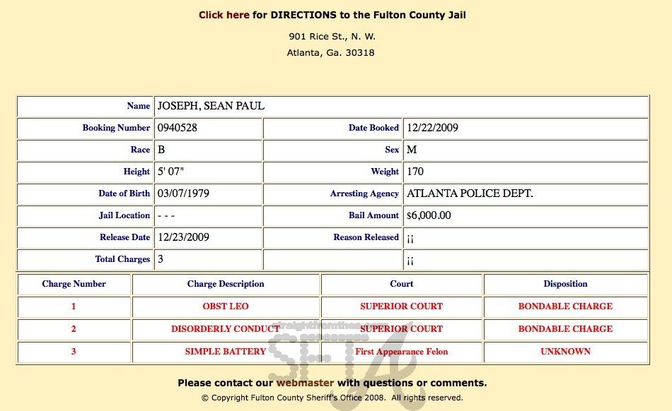 Sean Paul Jail