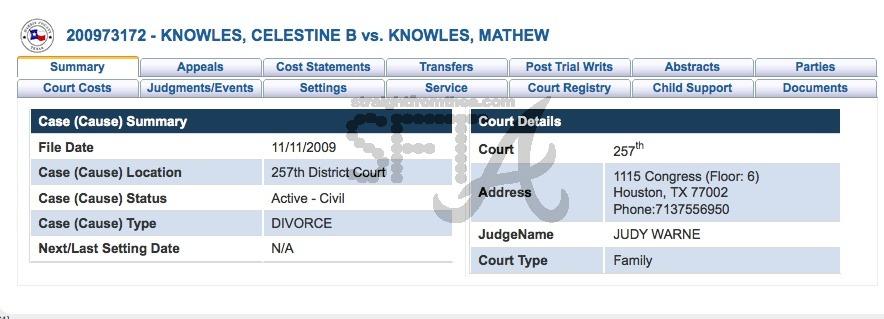Tina Matthew Knowles Divorce