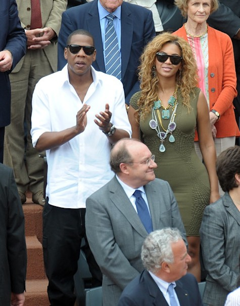 Jay Amp Bey At The French Open Beyonce Says No To