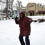 ?A? Town Pic of the Day ~ Peachtree Street Snowball Fight?