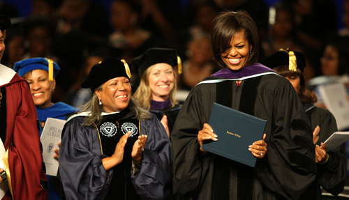 Michelle Obama Spelman Commencement - Straight From The A ... Michelle Obama Graduation