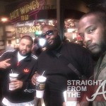 Rick Ross Finally Makes It To Wing Stop Grand Opening… [PHOTO]