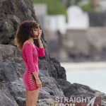 How High? Rihanna Hits the Beach With a Blunt… [PHOTOS]