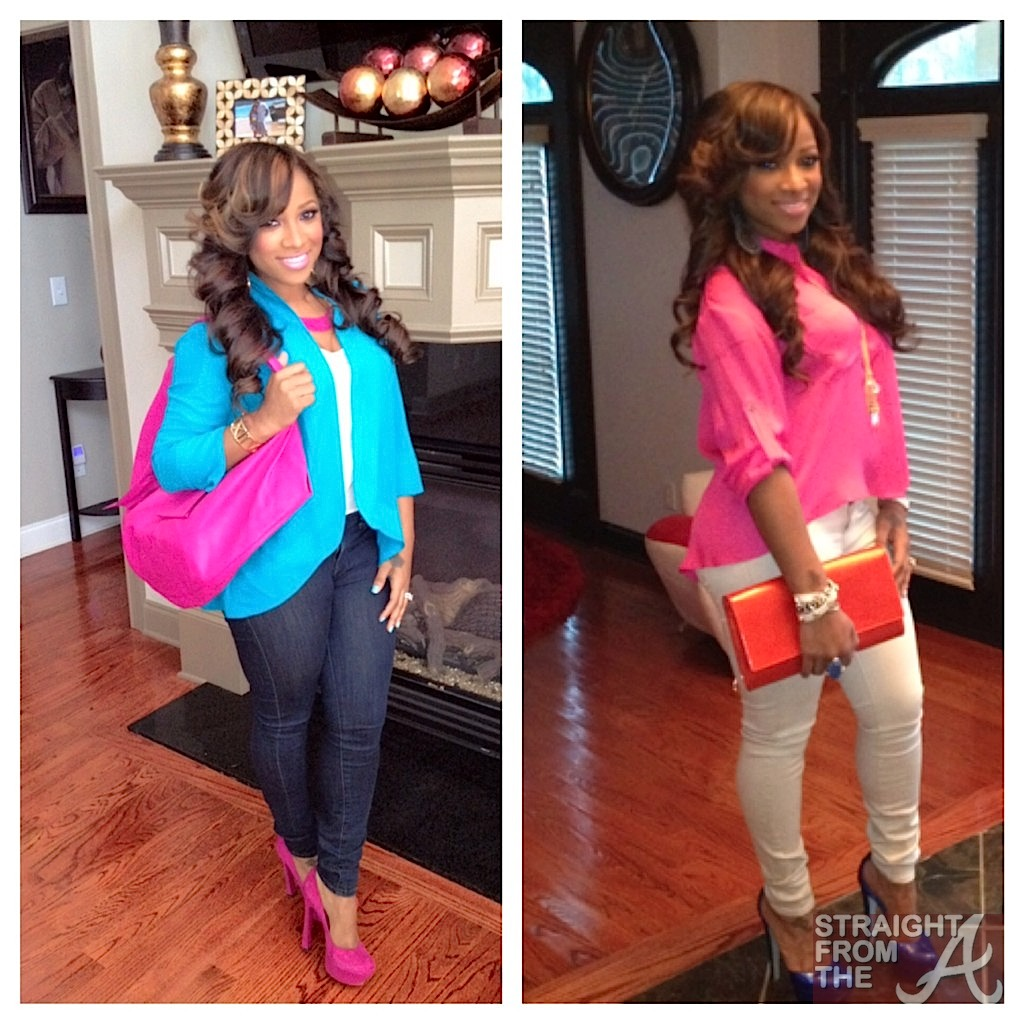 "toya wright reveals new look + bares ""assets"" with kandi burruss"
