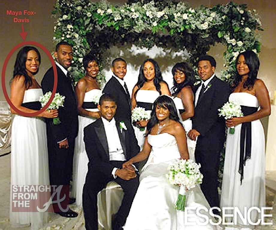Maya Fox Davis Far Left Usher Tameka Wedding Party -7997