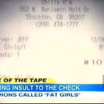 """WTF?!? Customers Labeled As """"Fat Girls"""" On Restaurant Bill + Online Responses… [VIDEO + PHOTOS]"""