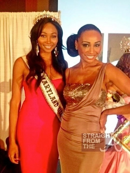 Nana Meriweather Miss USA 2012 and Cynthia Bailey