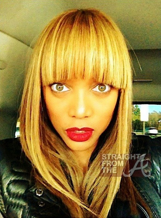 Tyra Banks Blond Bangs